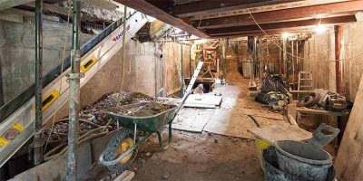 Domestic basement construction projects