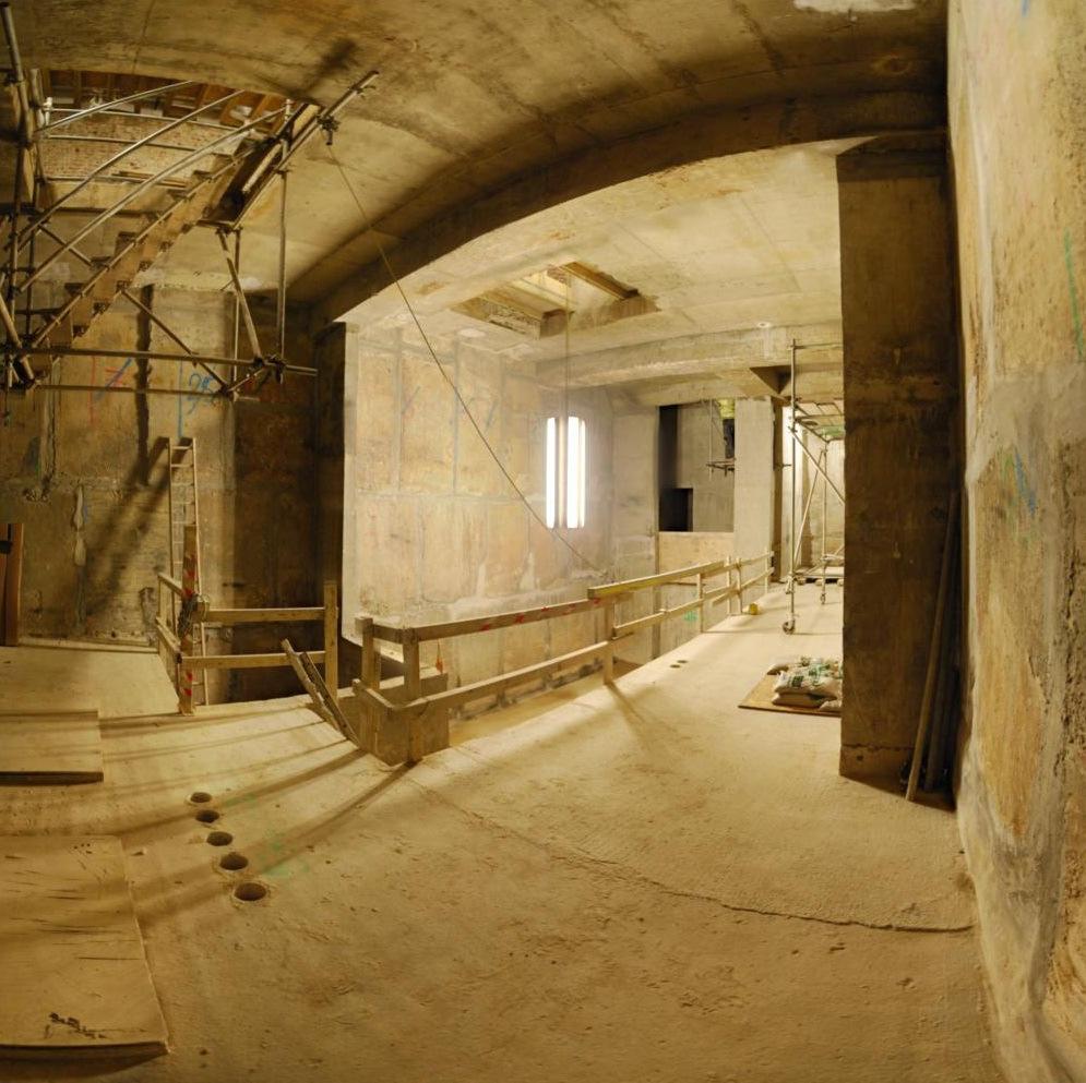 Waterproofing Existing Foundation Walls : Abbey pynford s belgravia basement waterproofing installation